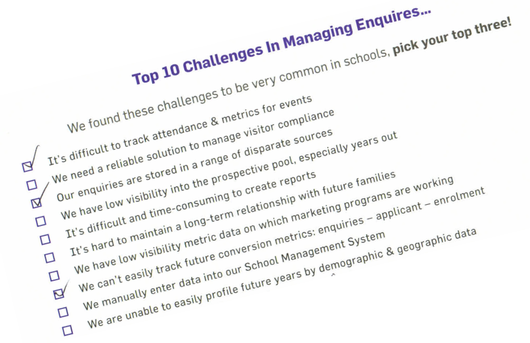 Top 3 issues schools face when tracking enquiries
